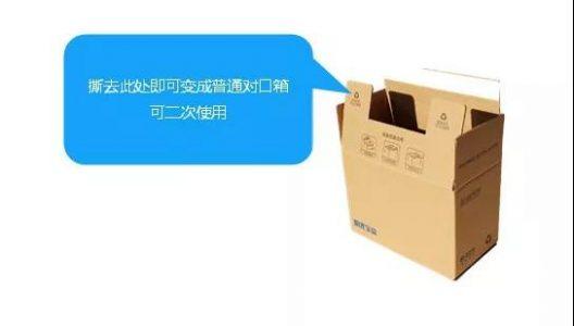 双面胶拉链式环保箱二次利用示意图